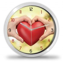 Szerelmes szív falióra