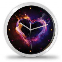 Lángoló szív falióra