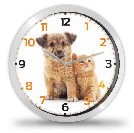 Kutya és cica falióra