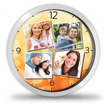 4 Fényképes óra - Narancs
