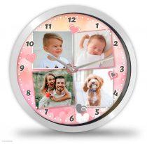 4 Fényképes óra - Pinkszives
