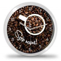 Kávés falióra, kávészemes