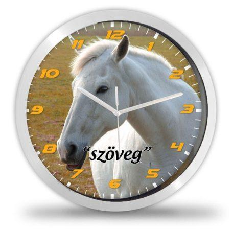 Fehér lovas falióra