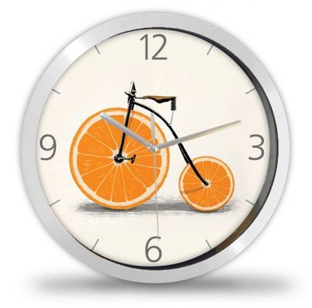Narancsos kerékpár  falióra