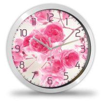 Virágos, rózsás falióra