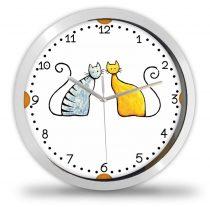 Két cica falióra