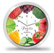 Gyümölcs és zöldség falióra