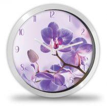 Lila orchidea virágos falióra